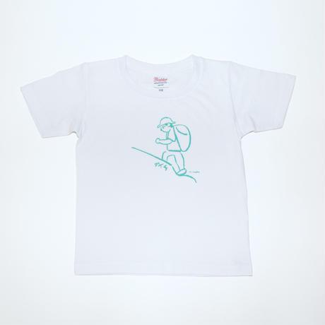 マメイケダ Tシャツ「登山者 ダイチ」