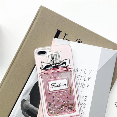 iPhoneケース 全機種対応 香水ボトル 流れ星 キラキラ スマホケース