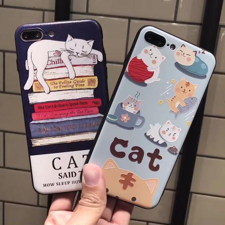 可愛い 猫柄 スマホケース5