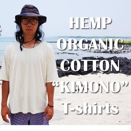 Hemp Organic Cotton着物T-shirts