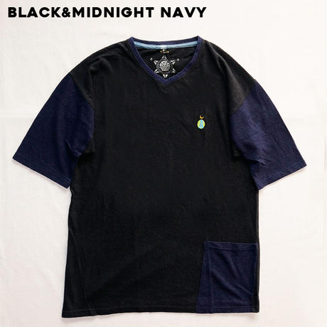 TEPPO T-shirts with Pocket  /BLACK&NAVY  Hemp