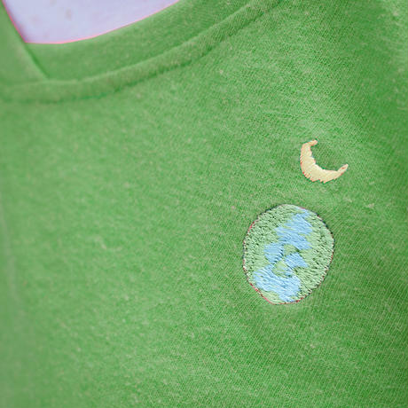 EARTH & MOON TEPPO ショートワンピース Forest Green Hemp