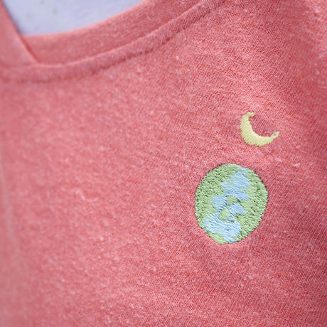 EARTH & MOON TEPPO ショートワンピース Sunset Red Hemp