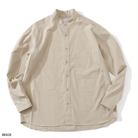 UNIVERSAL PRODUCTS ユニバーサルプロダクツ / T.M. BAND COLLAR L/S SHIRT 201-60303