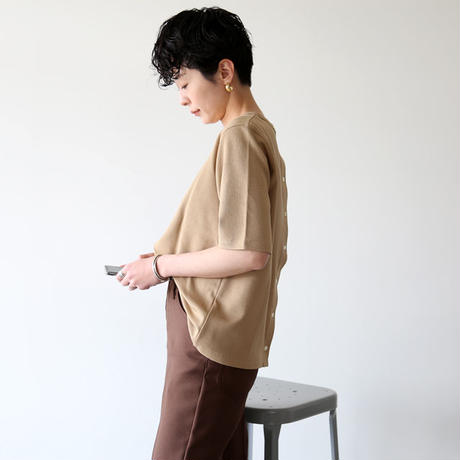 MY_ / BACK BUTTON T-SHIRT 201-61101