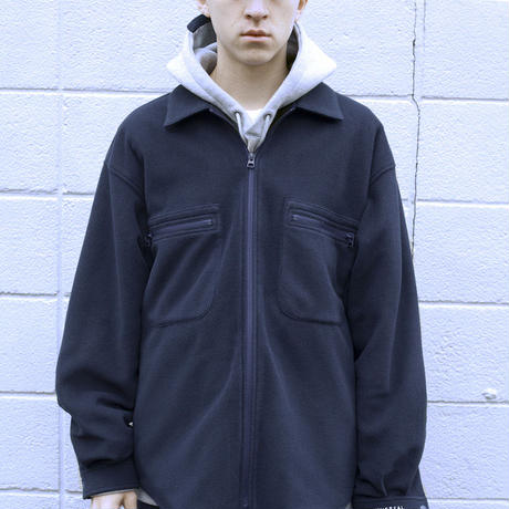 UNIVERSAL PRODUCTS. + N FLEECE ZIP UP BLOUSON