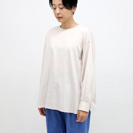LE GLAZIK ル グラジック / コットンサテン バックボタンノーカラーシャツ JL-3778KYM (レディース)
