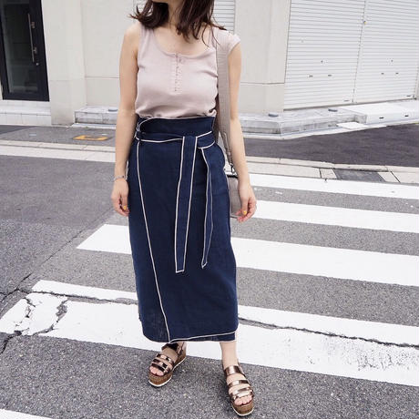 piping wrap skirts (NVY)