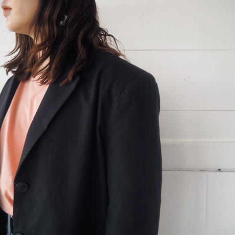 linen single  jacket (BLK)