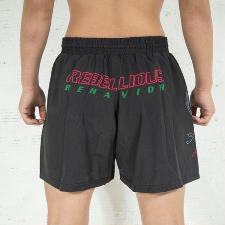 RBLS NEON  LOGO FIGHT SHORTS