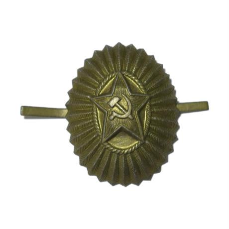 ソ連製 赤い星 帽章 ブロンズ