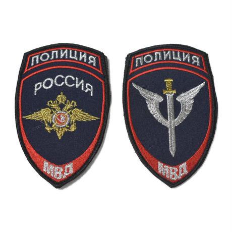 ロシア製 Politsiya 警察 袖パッチ セット ベルクロ付き