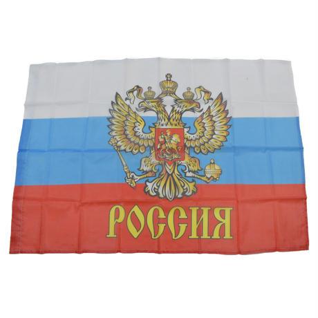 ロシア製 ロシア フラッグ 旗  国章付き