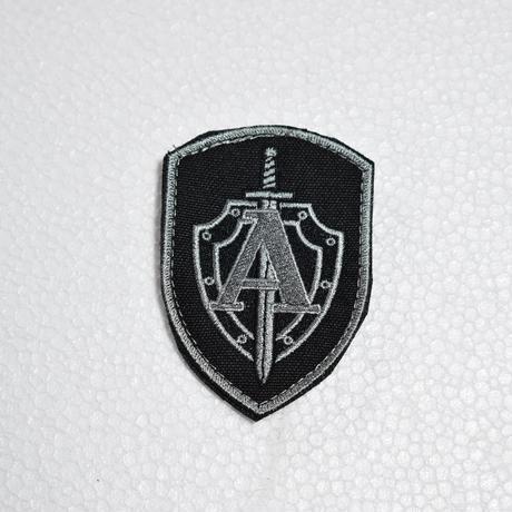 """Armytex製 FSB TsSN """"A"""" アルファ部隊 袖パッチ シルバー ベルクロ付き"""