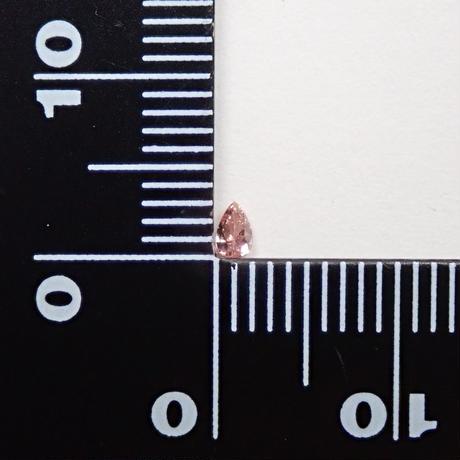 【6/15掲載】ピンクダイヤモンド 0.074ctルース(FANCY INTENSE ORANGY PINK, SI2)