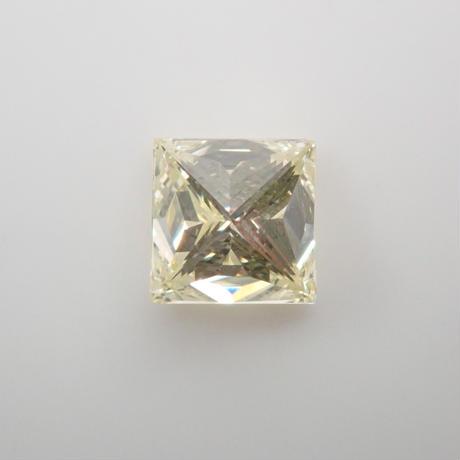 【7/27掲載】イエローダイヤモンド 0.503ctルース(LIGHT YELLOW, SI2,プリンセスカット)