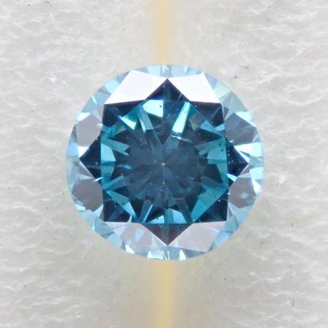 【11/23更新】ブルーダイヤモンド (トリートメント) 0.192ctルース(Treted FANCY DEEP GREEN BLUE, SI2)