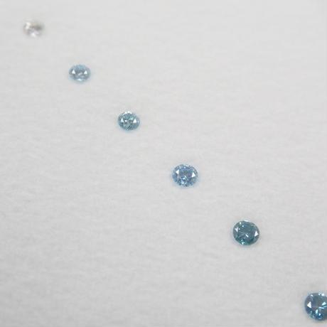 【9/11掲載】ダイヤモンド  0.10ct 6石セット(アイスブルーダイヤモンド含む)