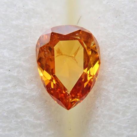 【11/23掲載】オレンジダイヤモンド 0.088ctルース(FANCY DEEP YELLOW ORANGE, I1)
