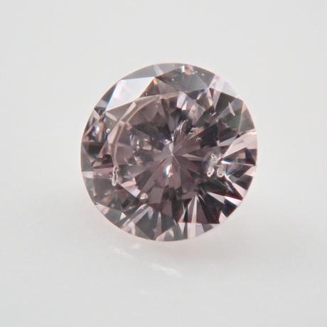 【10/7掲載】ピンクダイヤモンド 0.059ctルース(VERY LIGHT PURPLISH PINK, SI2)