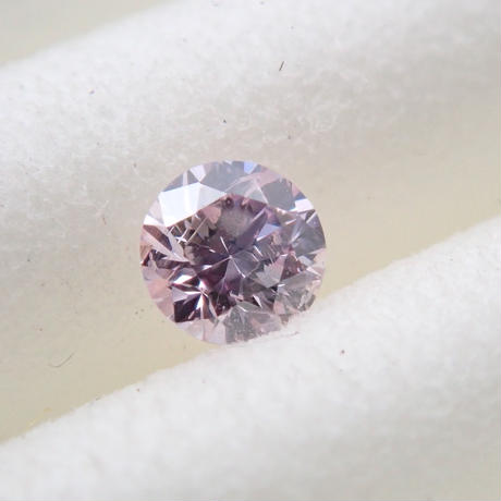 【10/30掲載】ピンクダイヤモンド 0.087ctルース(FANCY LIGHT PURPLE PINK, SI2)