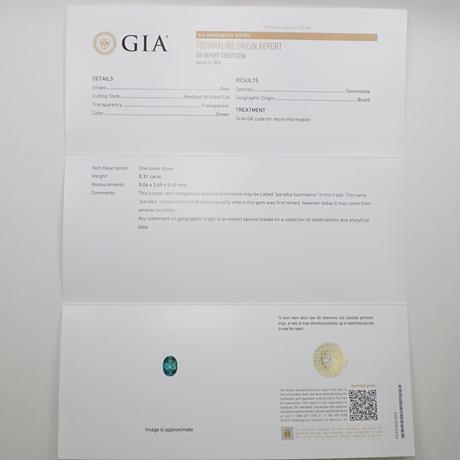 【11/11更新】ブラジル産パライバトルマリン 0.31ctルース GIA付
