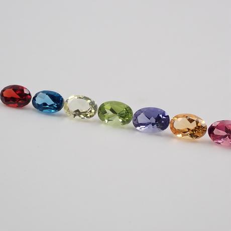 💎マルチカラー宝石7石セット  オーバルver💎