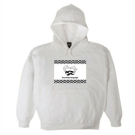 boombap language hoody (white)