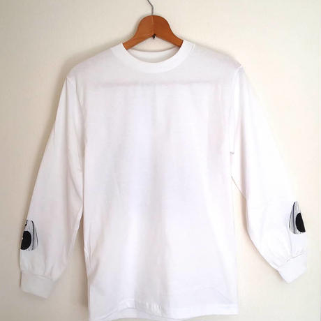 2山 - L/S tee  ( white×black×navy)
