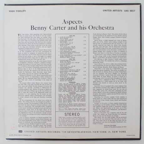 Benny Carter / Aspects (United Artists UAS 5017) stereo