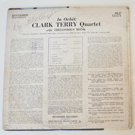 Clark Terry With  Thelonious Monk  – In Orbit(Riverside Records – RLP 12-271)mono