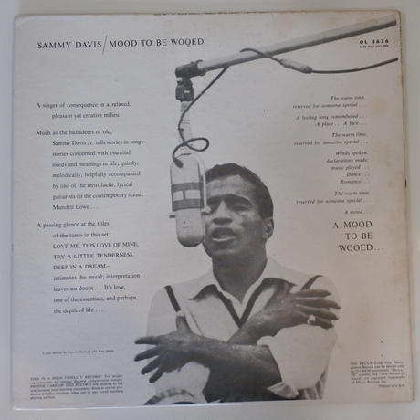 Sammy Davis Jr.  ‎– Mood To Be Wooed (Decca Records ‎– DL 8676)mono