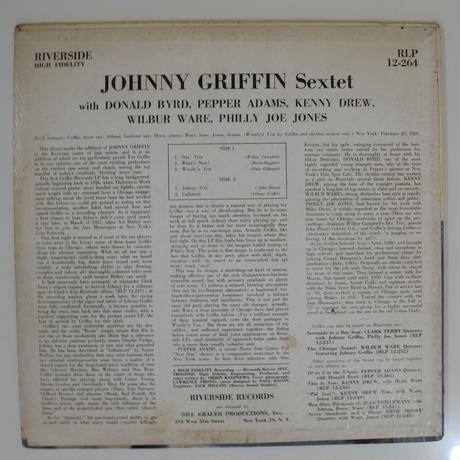 Johnny Griffin Sextet – Johnny Griffin Sextet(Riverside Records – RLP 12-264)mono
