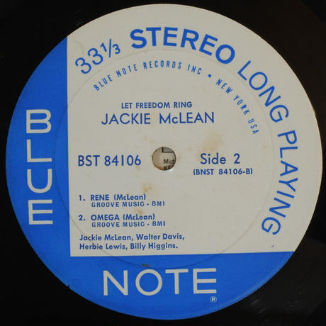 Jackie McLean  ‎– Let Freedom Ring (Blue Note ‎– BST 84106)stereo