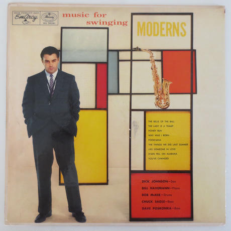 Dick Johnson Quartet ‎– Music For Swinging Moderns(Emarcy ‎– MG 36081)mono