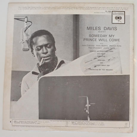 Miles Davis Sextet  ‎– Someday My Prince Will Come(Columbia ‎– CL 1656)mono