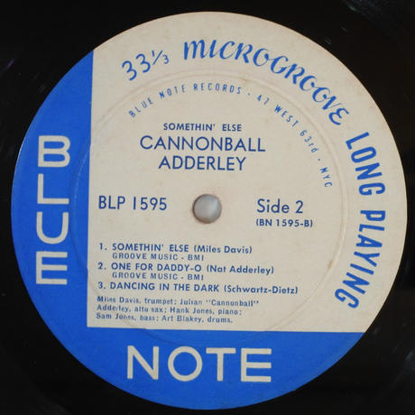 Cannonball Adderley ‎– Somethin' Else(Blue Note ‎– BLP 1595)mono