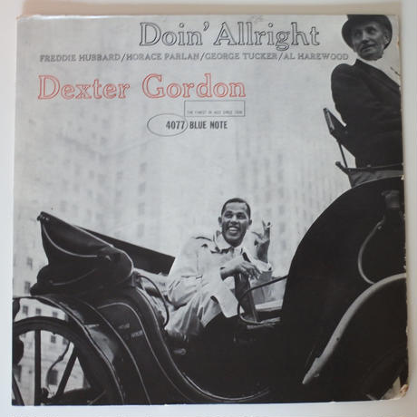 Dexter Gordon  ‎– Doin' Allright (Blue Note ‎– BLP 4077)mono