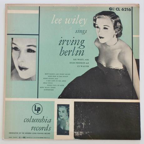 【LP+EPセット 】Lee Wiley – Lee Wiley Sings Irving Berlin(Columbia – CL 6216, B-307)
