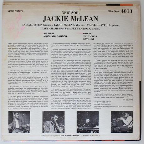 Jackie McLean  – New Soil (Blue Note – BLP 4013)mono