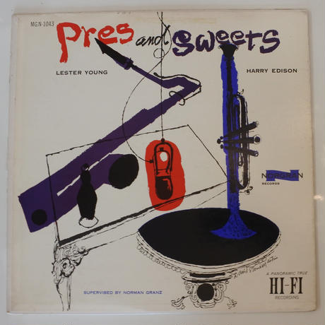 Lester Young,  Harry Edison  ‎– Pres & Sweets(Norgran Records ‎– MG N-1043)mono