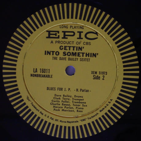 The Dave Bailey Sextet  ‎– Gettin' Into Somethin'  (Epic ‎– LA 16011)mono