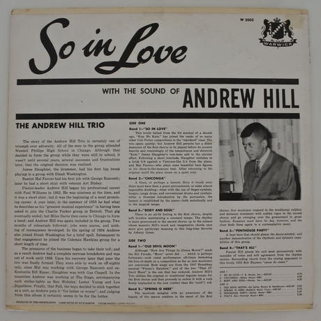 Andrew Hill  ‎– So In Love ( Warwick  W 2002 )mono