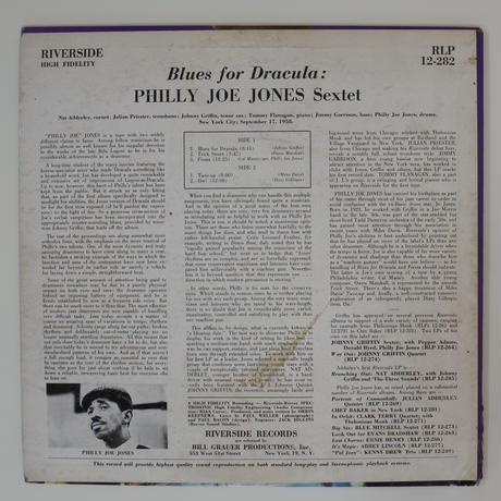 """Philly"" Joe Jones – Blues For Dracula( Riverside Records – RLP 12-282)mono"