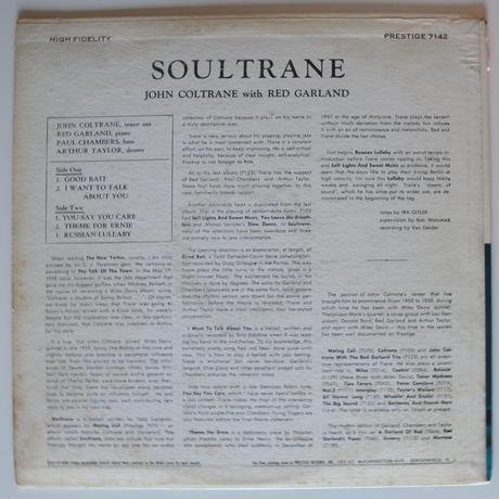 John Coltrane – Soultrane(Prestige - 7142)mono