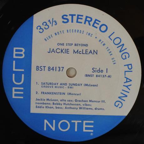 Jackie McLean – One Step Beyond(Blue Note – BST-84137)stereo