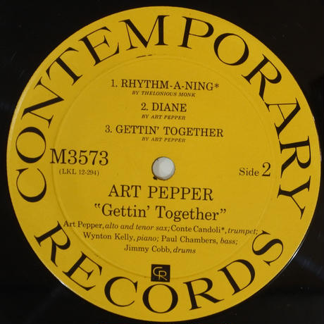 Art Pepper - Gettin' Together!(Contemporary Records – M3573)mono