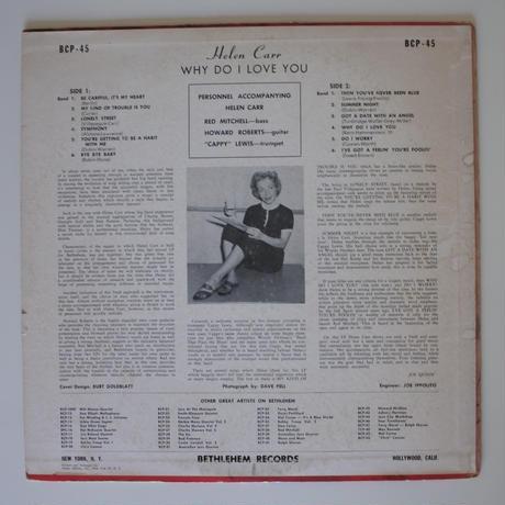 Helen Carr – Why Do I Love You(Bethlehem Records – BCP 45)mono