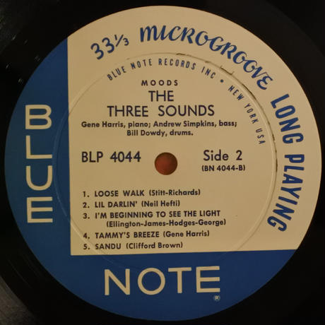 The Three Sounds ‎– Moods(Blue Note ‎– BLP 4044)mono