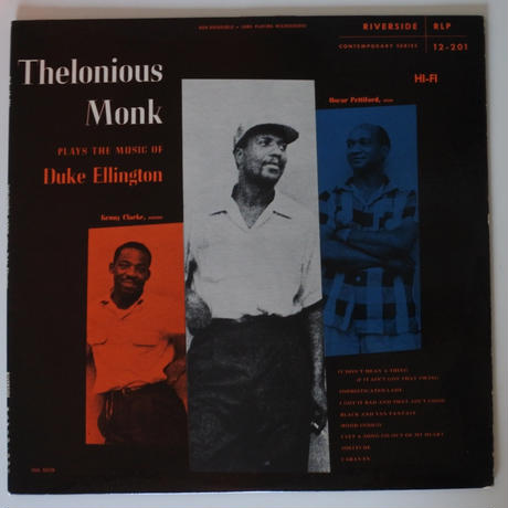 Thelonious Monk  ‎– Thelonious Monk Plays The Music Of Duke Ellington(Riverside ‎– RLP 12-201 )mono